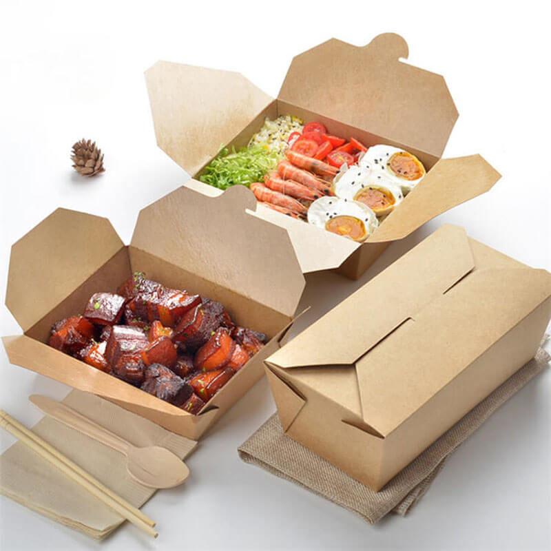 In hộp giấy đựng thức ăn nóng, đồ ăn nhanh tiện lợi