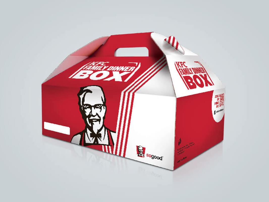 Mẫu hộp đựng bánh và cũng phù hợp để đựng thức ăn nhanh