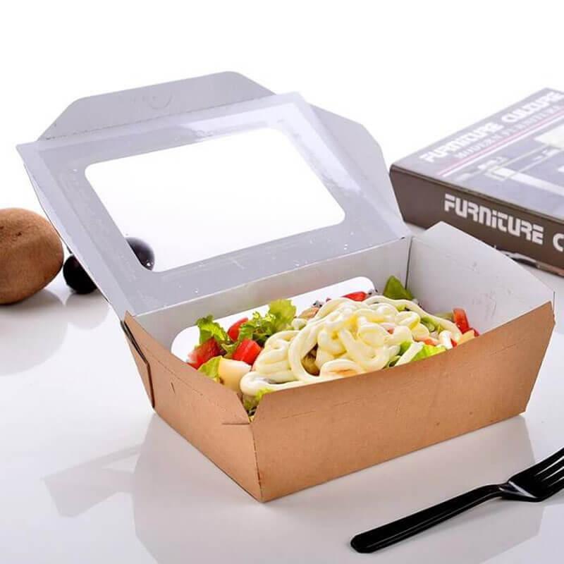 Mẫu hộp giấy đựng đồ ăn nhanh này cũng rất phổ biến hiện nay