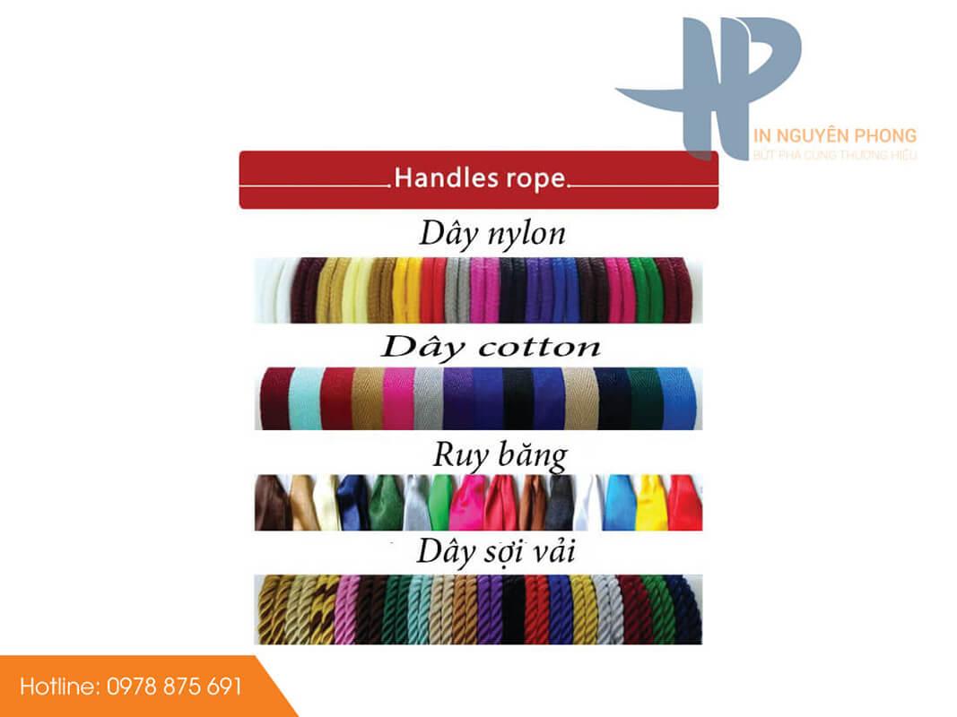 Các loại dây quai túi giấy